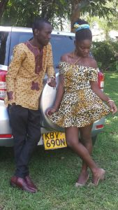 Models: Oreezy and Olave Animal prints working well with Gorofa Dress.