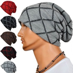 Mens-Slouch-Cap-Knitted-Hip-hop-Hat-Winter-Warm-Skateboard-Beanie-H9
