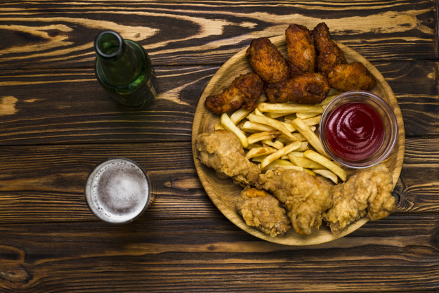 beer-and-chicken-with-french-fries_23-2147765444