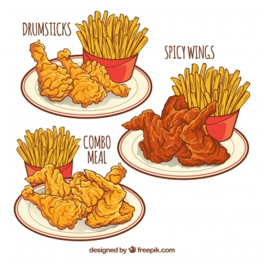different-dishes-with-fried-chicken-and-potatoes_23-2147624564
